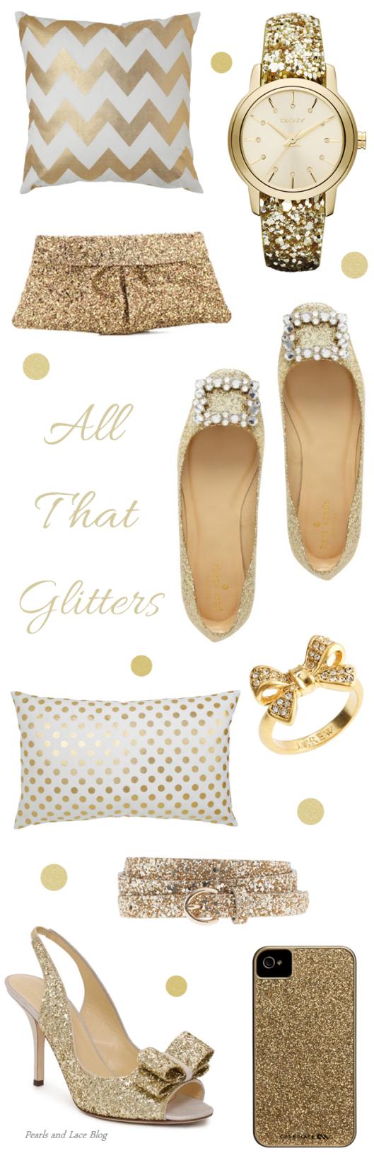 Gold Glitter Accessories