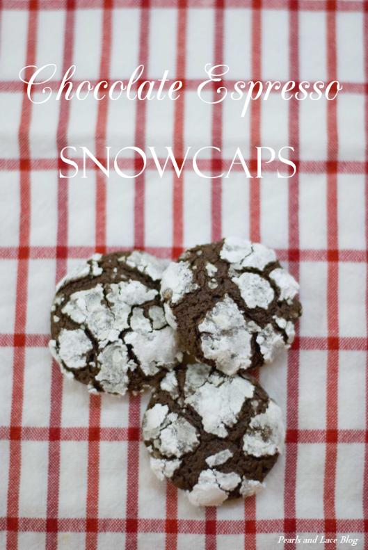 Chocolate Espresso Snowcap Cookies